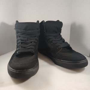 AIRWALK Black Radlee High Top Kickflip Canvas Shoe
